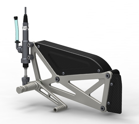 BOTT XR-1, right footrest render.