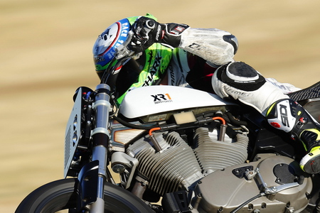 Anthony West riding the BOTT XR1.