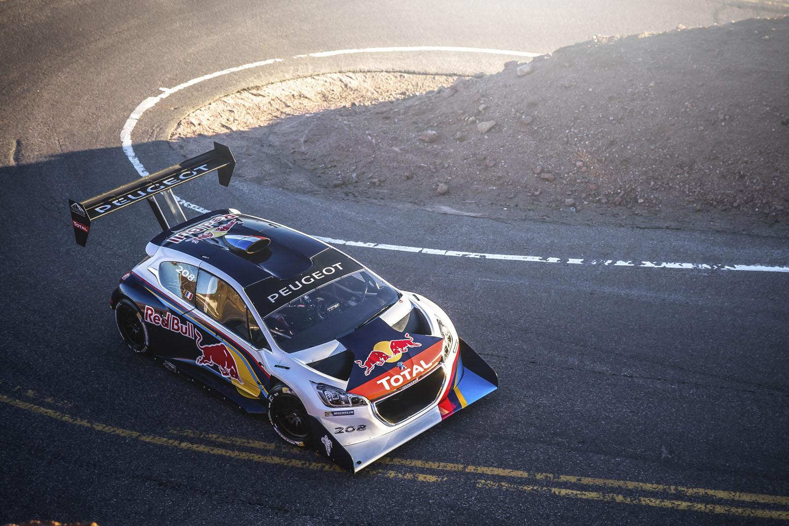 Sebastien Loeb with the Peugeot 208 T16