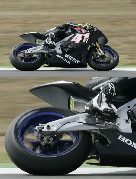 A swingarm designed to flex.