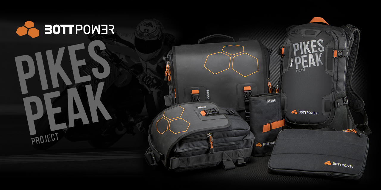 Kriega backpacks with Bottpower image.